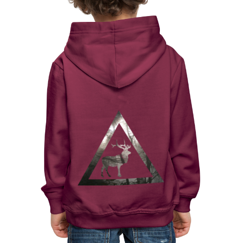 Mystical Forest Deer Triangle - Kinder Premium Hoodie