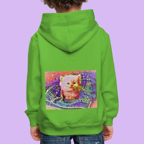 Gattino scintillante nella tasca dei jeans - Felpa con cappuccio Premium per bambini