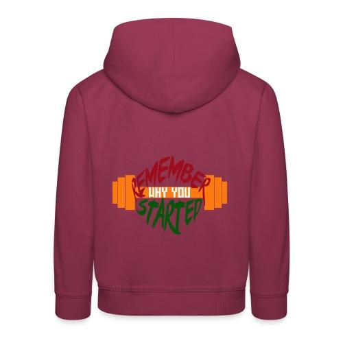 fitness draw - Pull à capuche Premium Enfant