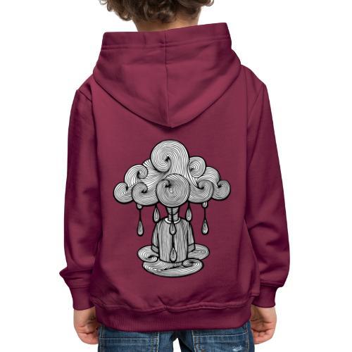 nuage lundi pluie, le lundi c'est nul... - Pull à capuche Premium Enfant