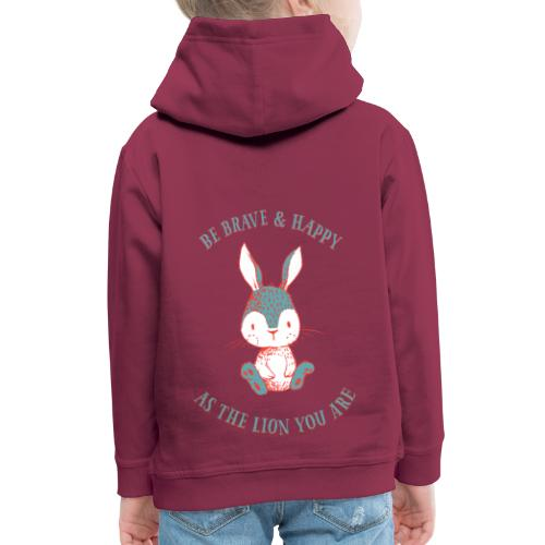 Brave rabbit - Kids' Premium Hoodie