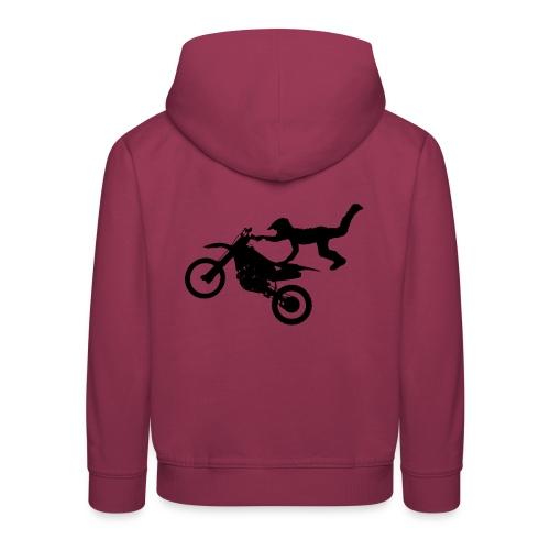 Motocross Bike Aerial Stunt - Felpa con cappuccio Premium per bambini
