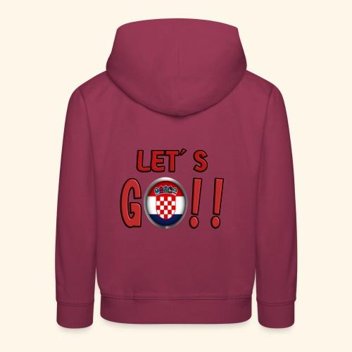 Go Croatia - Felpa con cappuccio Premium per bambini