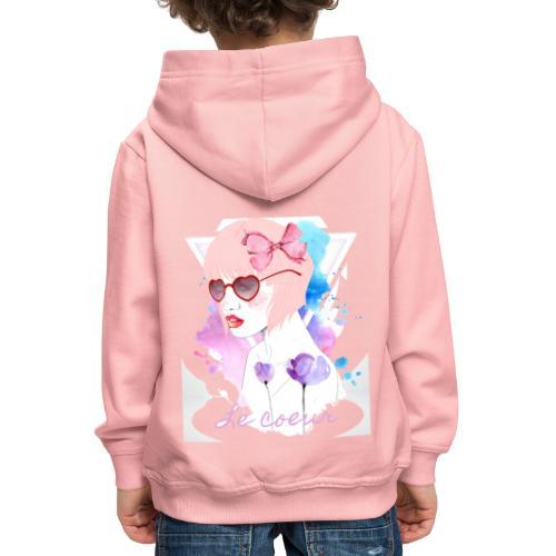 Le coeur - Pull à capuche Premium Enfant