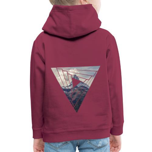 Matterhorn Zermatt Dreieck Design - Kinder Premium Hoodie