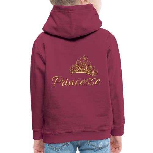 Princesse Or - by T-shirt chic et choc - Pull à capuche Premium Enfant