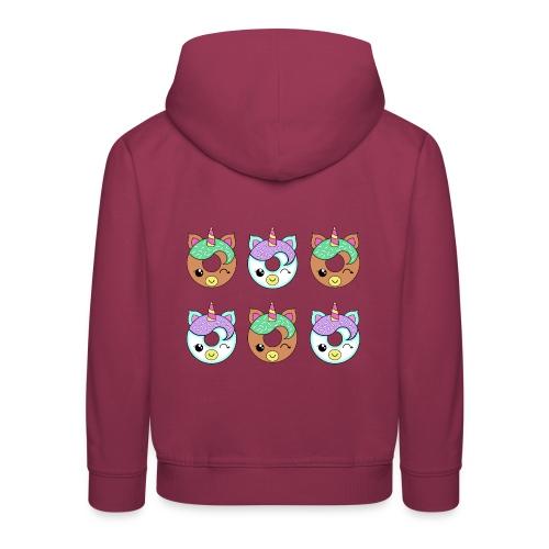 Unicorn Donut - Felpa con cappuccio Premium per bambini