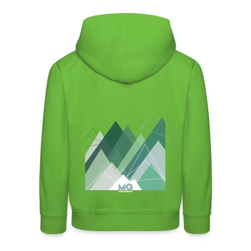 MQ TRIANGLE 01 green - Kinder Premium Hoodie