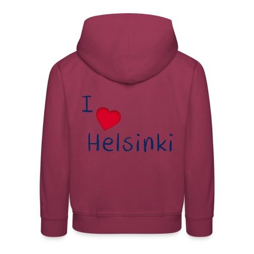 I Love Helsinki - Lasten premium huppari