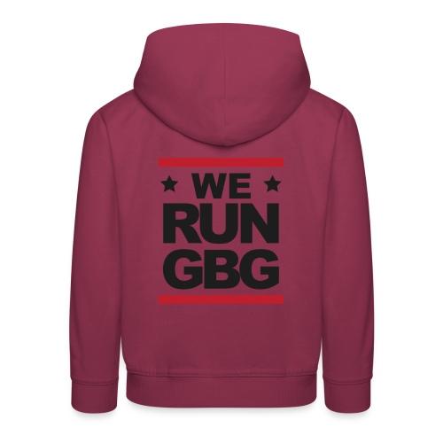 We run GBG svart tryck - Premium-Luvtröja barn