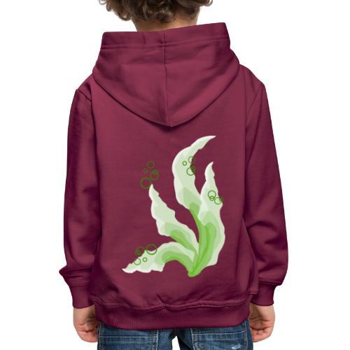 pennelli acquerello verde - Felpa con cappuccio Premium per bambini