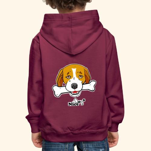 Nice Dogs Semolino - Felpa con cappuccio Premium per bambini