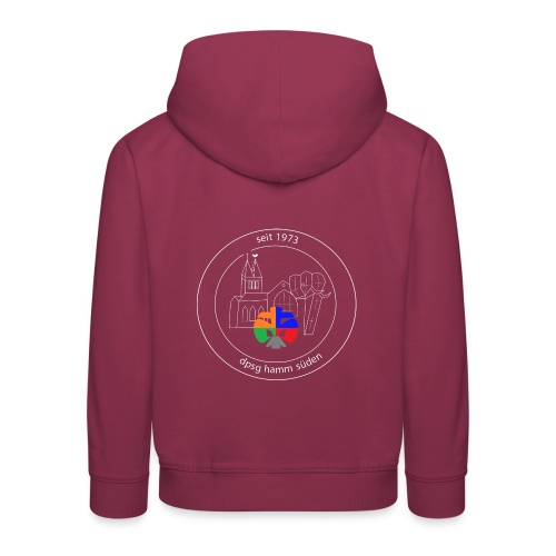 T Shirt Logo weiss trans ohne rand - Kinder Premium Hoodie