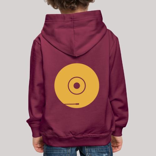 disco PF 1colore giallo - Felpa con cappuccio Premium per bambini