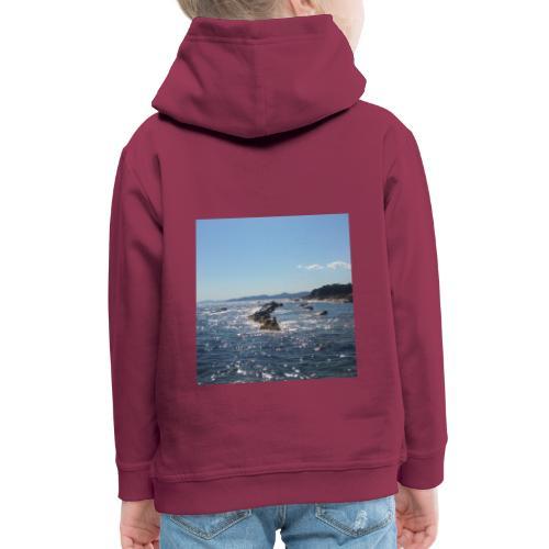 Mer avec roches - Pull à capuche Premium Enfant