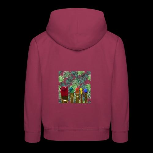 couleurs chauds des tropiques - Pull à capuche Premium Enfant