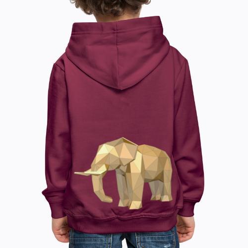 elephant geometric - Kids' Premium Hoodie