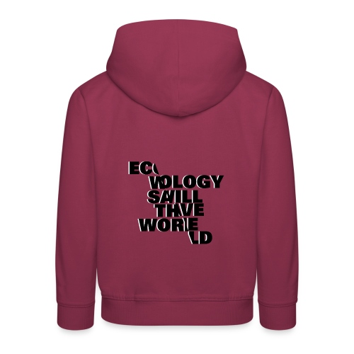 Ecology Typo - Pull à capuche Premium Enfant