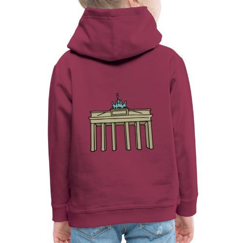 Porte de Brandebourg BERLIN c - Pull à capuche Premium Enfant