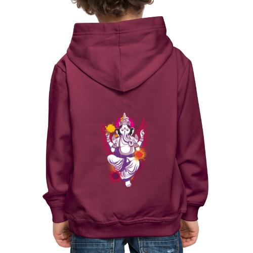 Ganesha farbenfroh dein Glücksgott - Kinder Premium Hoodie