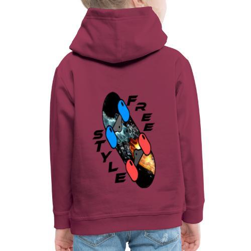 Skateboard Freestyle - Kinder Premium Hoodie