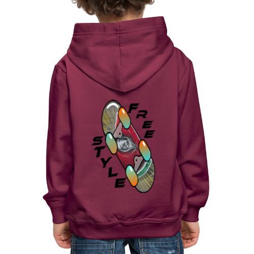 Skateboard Freestyle 2 - Kinder Premium Hoodie