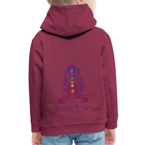 Boho Yoga Style Mädel Happy Mind Happy Life - Kinder Premium Hoodie