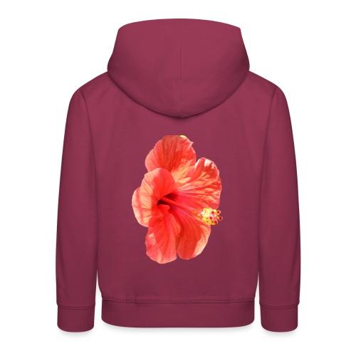 A red flower - Kids' Premium Hoodie