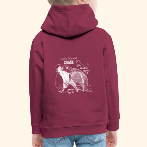 Spirit Animal Schlange weiß - Kinder Premium Hoodie