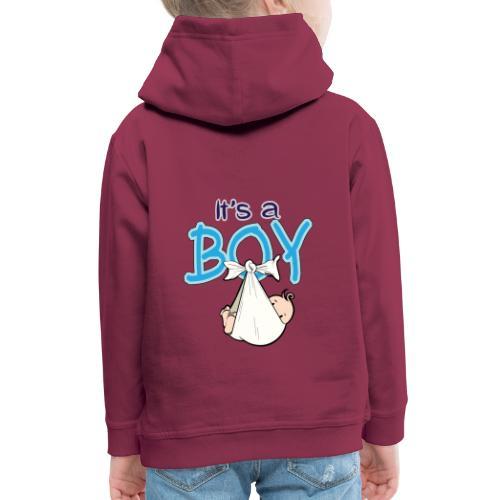 Babyshower Boy Blauw - Kinderen trui Premium met capuchon