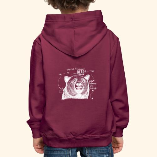 Spirit Animal Bär weiß - Kinder Premium Hoodie