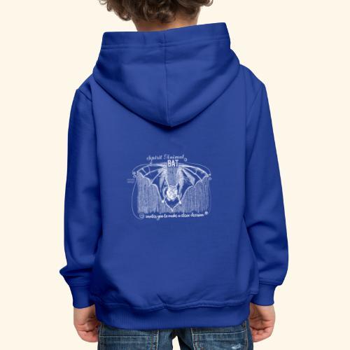 Spirit Animal Fledermaus weiß - Kinder Premium Hoodie