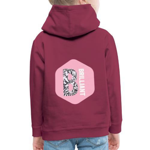 B brilliant pink - Kinderen trui Premium met capuchon