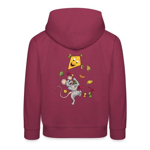 Maus mit Drachen im Herbst - Kinder Premium Hoodie
