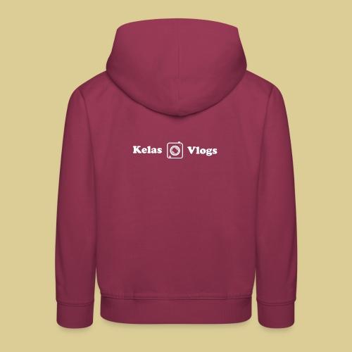 kelas vlogs new logo - Premium hættetrøje til børn