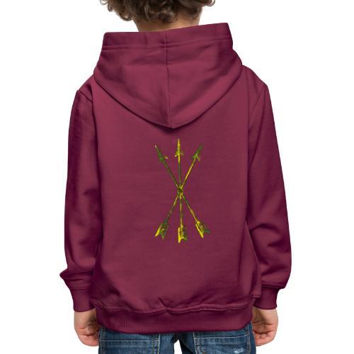 Scoia tael emblem green yellow - Kids' Premium Hoodie