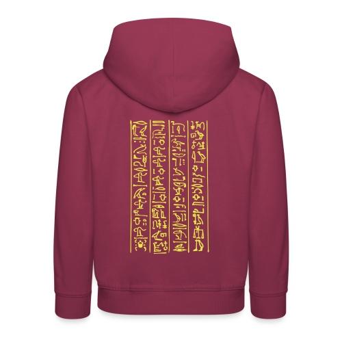 Hieroglyphen - Kinder Premium Hoodie
