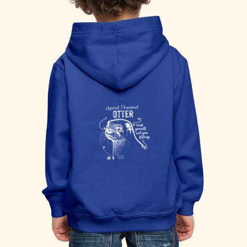 Spirit Animal Otter weiß - Kinder Premium Hoodie