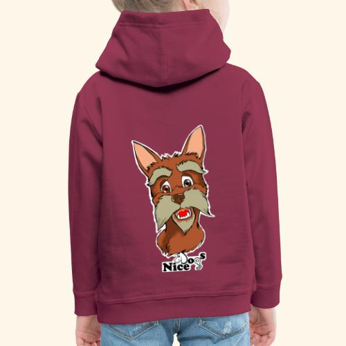 Nice Dogs schnauzer - Felpa con cappuccio Premium per bambini