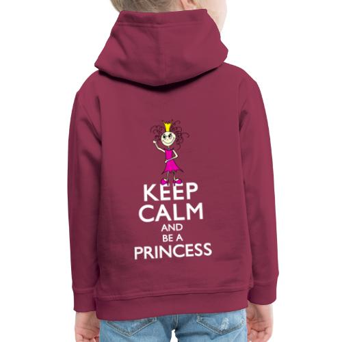 Keep calm an be a princess - Kinder Premium Hoodie