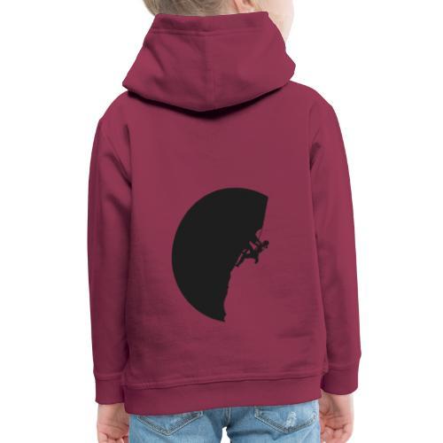 Klettrerin in schwarz - Kinder Premium Hoodie
