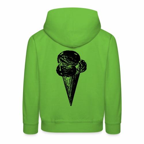 Ice Cream Graphic in black and white - Kinder Premium Hoodie