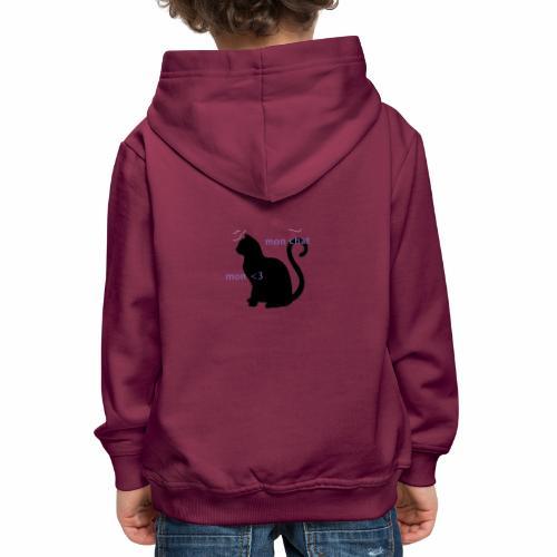 Mon Chat Mon <3 - Pull à capuche Premium Enfant