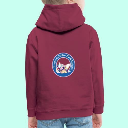 Französische Bulldoggen rosa blau - Kinder Premium Hoodie
