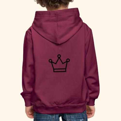 The Queen - Premium hættetrøje til børn