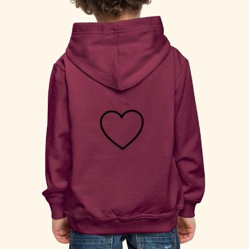 heart 512 - Premium hættetrøje til børn