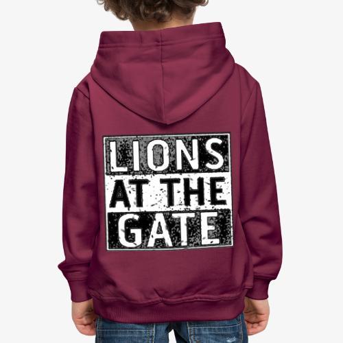 LIONS AT THE GATE BAND LOGO - Kinderen trui Premium met capuchon