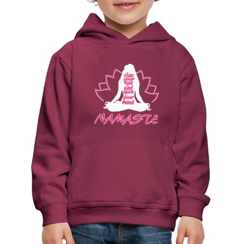 chiudi gli occhi namaste yoga pace amore sport arte - Felpa con cappuccio Premium per bambini
