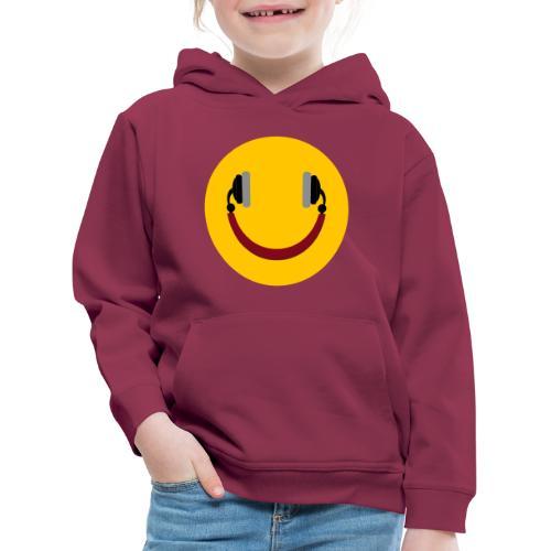 Smiling headphone - Premium hættetrøje til børn