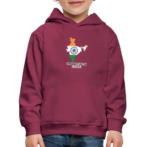 Straight Outta India (Bharat) country map flag - Kids' Premium Hoodie